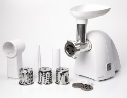 Meat mincer Camry CR 4802 White, 600-1500 W, Number of speeds 1, Middle size sieve, mince sieve, poppy sieve, plunger, sausage f