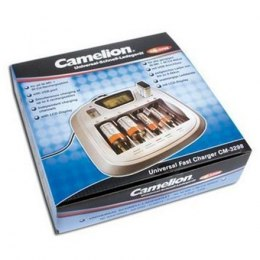 Camelion Universal Fast Battery Charger CM-3298, 8 Independent Charging Channels, AA/AAA/C/D/9V Ni-MH Batteries, USB Port, Disch