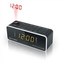 Muse Clock radio M-188P Black, 0.9 inch amber LED, with dimmer