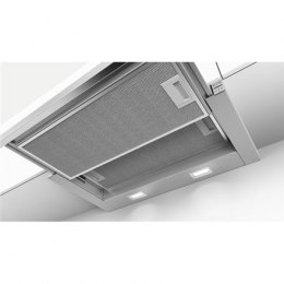 Hood Bosch DFM064A51 Mechanical panel, Width 60 cm, 420 m³/h, Silver, Energy efficiency class A, 59 dB, Built-in telescopic