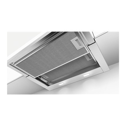 Hood Bosch DFS067E51 Touch, Width 60 cm, 710 m³/h, Stainless steel, Energy efficiency class A, 55 dB, Built-in telescopic