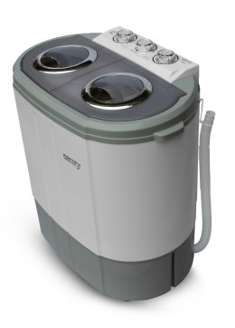 Camry Washing machine CR 8052 Top loading, Washing capacity 3 kg, 1300 RPM, Depth 40 cm, Width 60 cm, White-Grey,