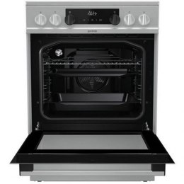 Gorenje Cooker EC6351WC Hob type Vitroceramic, Oven type Electric, Stainless steel, Width 60 cm, Electronic ignition, Grilling,