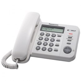 Panasonic Corded KX-TS560FXW 588 g, White, Caller ID, Phonebook capacity 50 entries, Built-in display, 198 x 195 x 95 mm