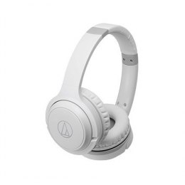 Audio Technica Headphones with Built-in Mic and Controls ATH-S200BTWH Headband/On-Ear, Bluetooth, White, No, Yes