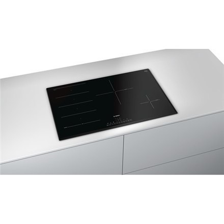 Bosch Hob Bosch PXE851FC1E Induction, Number of burners/cooking zones 4, Black, Display, Timer