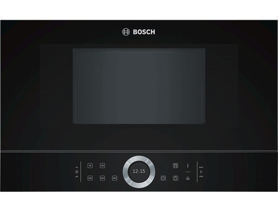 Bosch Microwave Oven BFL634GB1 Touch, 900 W, Black, Built-in, Defrost function