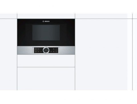 Bosch Microwave oven BFR634GS1 21 L, Touch, 900 W, Stainless steel, Built-in, Defrost function