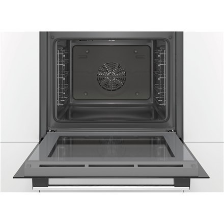 Bosch Oven HBA533BB0S Built-in, 71 L, Black, Eco Clean, A, Push pull buttons, Height 60 cm, Width 60 cm, Integrated timer, Elect