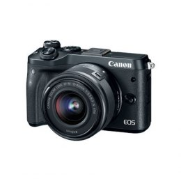 "Canon EOS M6 M15-45 S Mirrorless Camera Kit, 24.2 MP, ISO 25600, Display diagonal 3 "", Video recording, Wi-Fi, TTL, CMOS, Black"