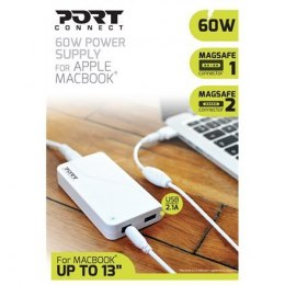 "PORT CONNECT MagSafe Power adapter for Apple Macbook* and Macbook Pro* 11/12/13"" 16.5 V, 60 W, AC adapter, DC16.5 V / 3.65 A, Fa"