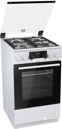 Gorenje Cooker K5351WF Hob type Gas, Oven type Electric, White, Width 50 cm, Electronic ignition, Grilling, LED, 62 L, Depth 60