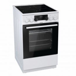 Gorenje Cooker EC5351WA Hob type Vitroceramic, Oven type Electric, White, Width 50 cm, Electronic ignition, 70 L, Depth 60 cm