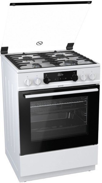 Gorenje Cooker K634WF Hob type Gas, Oven type Electric, White, Width 60 cm, Electronic ignition, Grilling, LED, 71 L, Depth 60