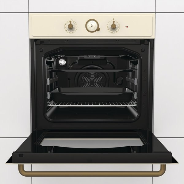 Gorenje Oven BO7732CLI Built-in, 71 L, Ivory, AquaClean, Mechanical, Height 60 cm, Width 60 cm