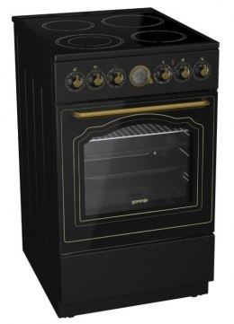 Gorenje Cooker EC62CLB Hob type Glassceramic, Oven type Electric, Black, Width 60 cm, Electronic ignition, Grilling, Depth 60 cm