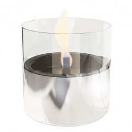 Tenderflame Table burner Lilly 1W Glass Diameter 10 cm, 12 cm, 200 ml, 7 hours, Silver