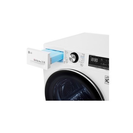 LG Dryer Machine RC80V9AV3Q Energy efficiency class A+++, Front loading, 8 kg, Heat pump, LED touch screen, Depth 69 cm, Wi-Fi,