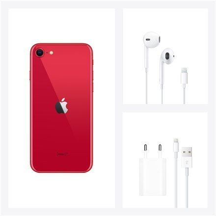 "Apple iPhone SE Red, 4.7 "", Retina IPS LCD, 750 x 1334 pixels, Apple A13 Bionic, Internal RAM 3 GB, 64 GB, Dual SIM, nano-SIM an"