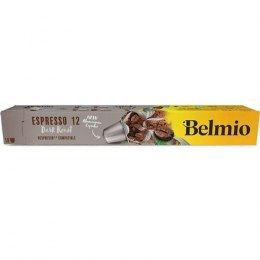 Belmoca Belmio Sleeve Espresso Extra Dark Roast Coffee Capsules for Nespresso coffee machines, 10 capsules, Coffee strength 12/1