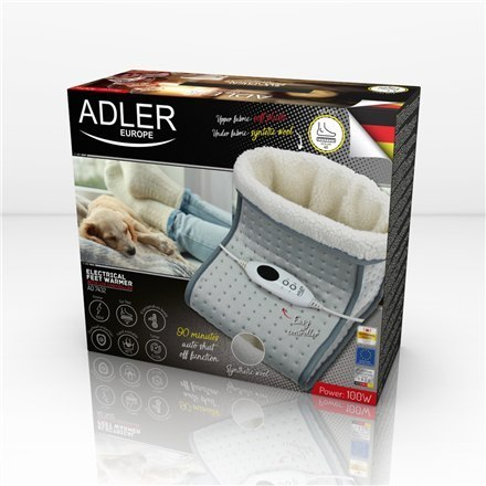 Adler Feet warmer with LCD controller AD 7432 Number of heating levels 6, Number of persons 1, Washable, Remote control, 100 W,