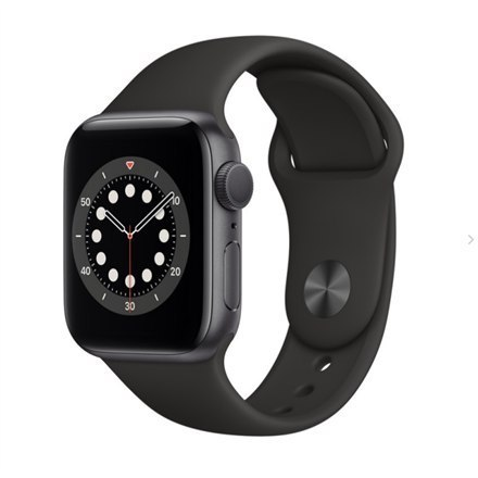 Apple Series 6 GPS Smart watch, GPS (satellite), LTPO OLED Retina, Touchscreen, Heart rate monitor, Waterproof, Bluetooth, Wi-Fi