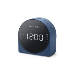 Muse Dual Alarm Clock radio PLL M-185CBL AUX in,
