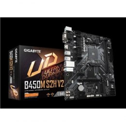 Gigabyte B450M S2H V2 1.0 Processor family AMD, Processor socket AM4, DDR4 DIMM, Memory slots 2, Chipset AMD B, Micro ATX