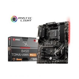 MSI B450 TOMAHAWK MAX II Processor family AMD, Processor socket AM4, DDR4, Memory slots 4, Number of SATA connectors 6, Chipset