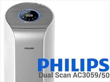 Philips Air purifier AC3059/50 58 W, Suitable for rooms up to 48 m², Silver