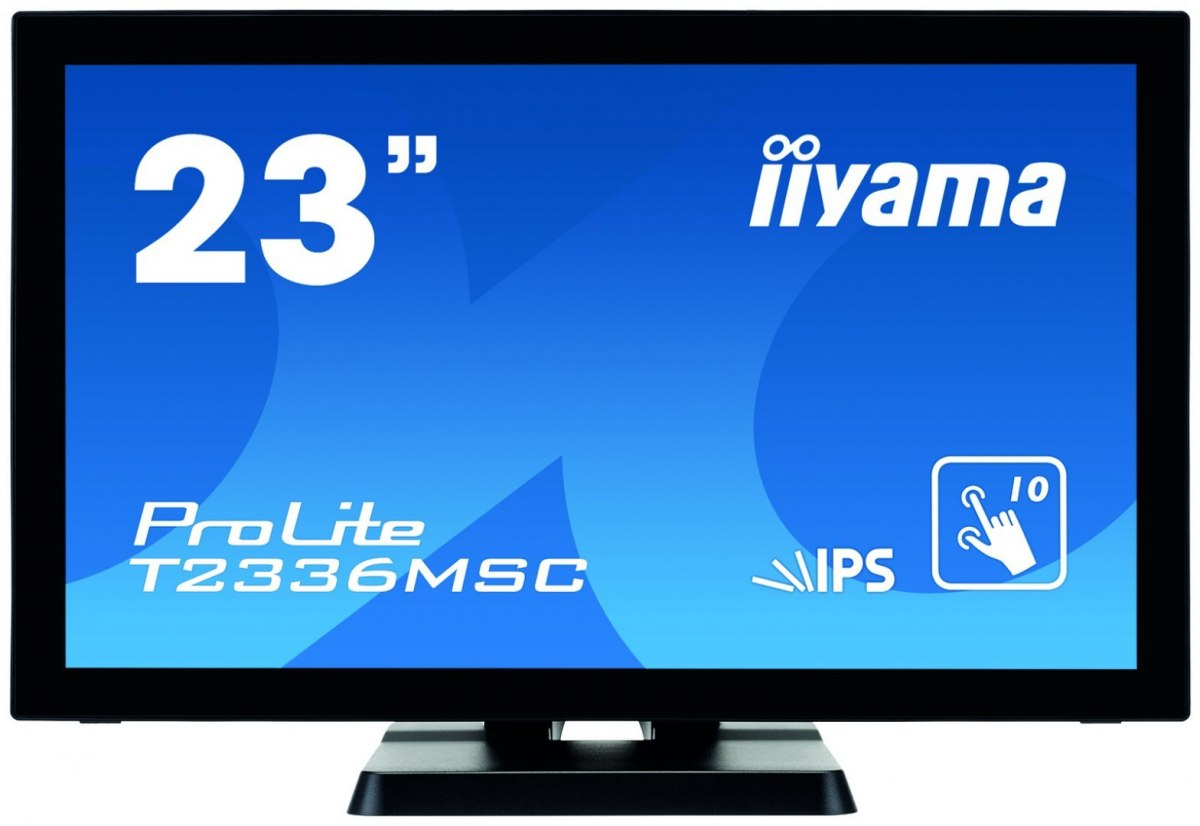 "Iiyama Touch monitor with edge-to-edge glass PROLITE T2336MSC-B2 23 "", Touchscreen, IPS, 1920 x 1080 pixels, 16:9, 5 ms, 250 cd/"