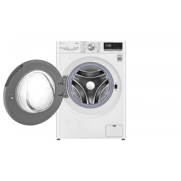 LG Washing Machine With Dryer F2DV5S7S1E B, Front loading, Washing capacity 7 kg, 1200 RPM, Depth 46 cm, Width 60 cm, Display, L