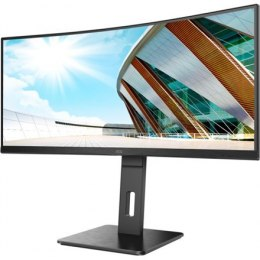 "AOC Curved Monitor CU34P2A 34 "", VA, 3440 × 1440, 21:9, 1 ms, 300 cd/m², Black, Headphone out (3.5mm)"