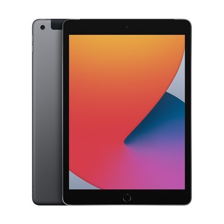 "Apple 8th Gen (2020) iPad Wi-Fi + Cellular 10.2 "", Space Grey, Retina touch screen with IPS, 2160 x 1620, Apple A12 Bionic, 3 G"
