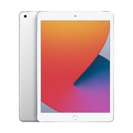"Apple 8th Gen (2020) iPad Wi-Fi + Cellular 10.2 "", Silver, Retina touch screen with IPS, Apple A12 Bionic, 3 GB, 32 GB, 4G, Wi-F"