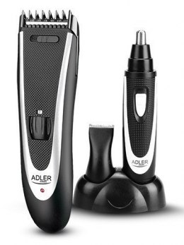 Adler AD 2822 Hair clipper + trimmer, 18 hair clipping lengths, Thinning out function, Stainless steel blades, Black Adler Adler