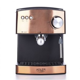 Adler Espresso coffee machine AD 4404cr Pump pressure 15 bar, Built-in milk frother, Semi-automatic, 850 W, Cooper/ black