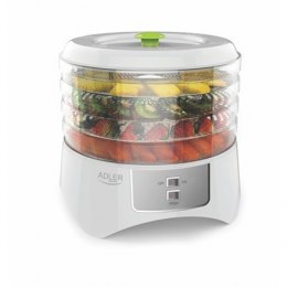 Food Dehydrator Adler AD 6654 White, 400 W, Number of trays 4, Temperature control