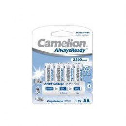 Camelion AA/HR6, 2300 mAh, AlwaysReady Rechargeable Batteries Ni-MH, 4 pc(s)