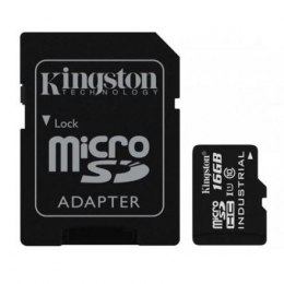 Kingston Industrial Temperature UHS-I U1 16 GB, MicroSDHC, Flash memory class 10, SD Adapter