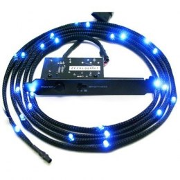 NZXT Light Sensitivity Sleeved LED Kit (2-Meters) (Blue) *Designed to take up minimal space and fit in narrow areas in any case,