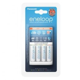 Panasonic Eneloop Battery Ładowarka + 4 x R6/AA K-KJ55MCC40E Ni-MH, Rapid charging option. Detection of damaged batterie., AA
